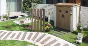 カンナフォルテと<br /> さりげない目隠しのあるお庭