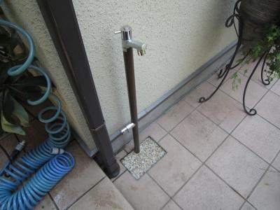 施工後:立水栓「ジラーレ」