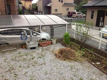 あまり利用されていなかった以前のお庭