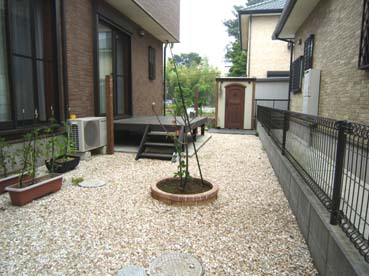カンナキュートを設置したお庭の写真