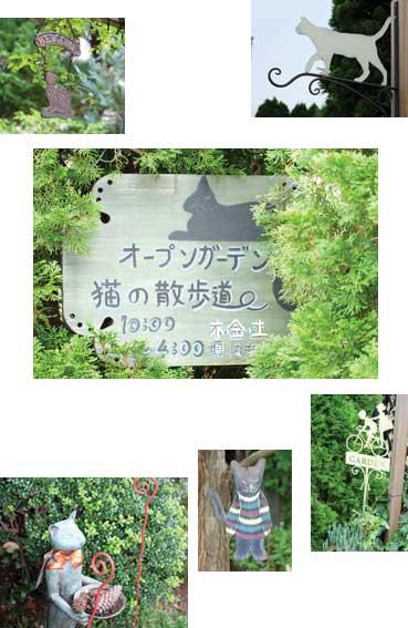 越生町のオープンガーデン「猫の散歩道」イメージ