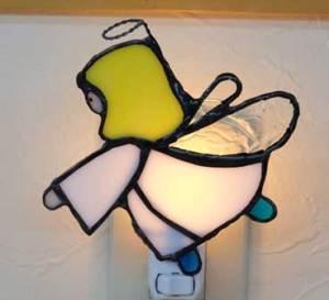 ステンドグラス「天使」のお休みランプ