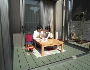 ガーデンルームはお子様のスペース