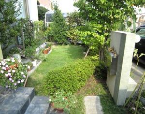 お庭への出入りをふさいでいた植栽