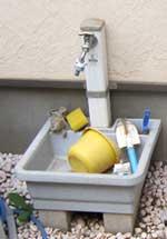 以前使われていた立水栓