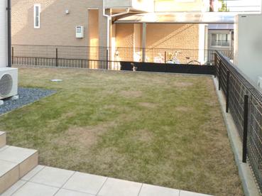 施工前の芝のお庭