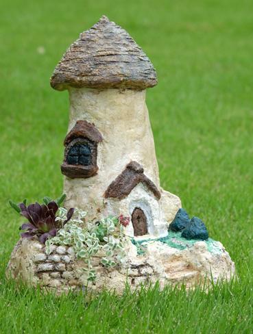 モルタル造形のお家作品