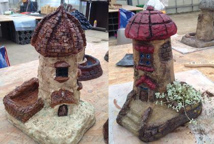 モルタル造形のお家・皆さんのすてきな作品