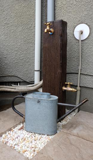 散水栓を立水栓にして使いやすく