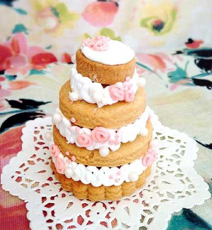 3段ケーキのアイシングクッキー作品のイメージ