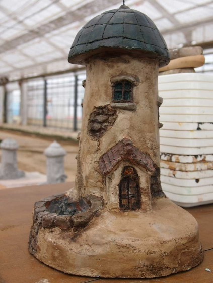 モルタル造形のお家