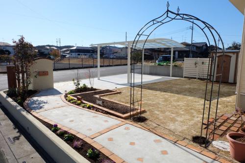 施工後のお庭