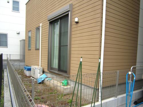 庭 リフォーム前写真