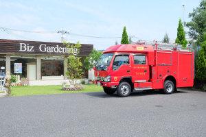 【消防車を運転するのは女性消防士!】