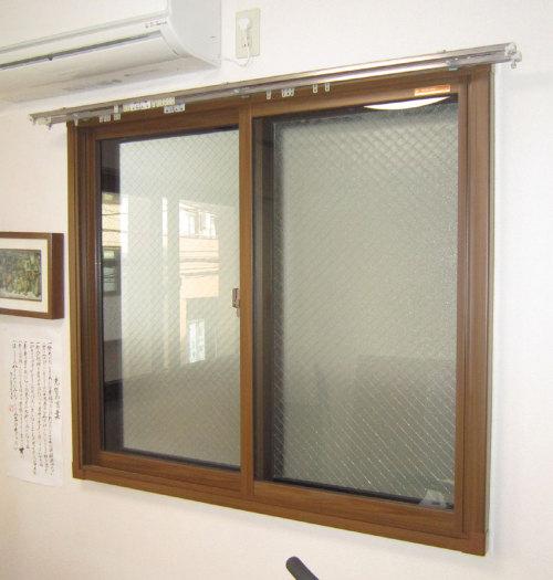 プラマードUを設置した後の 勉強部屋の窓(隣地側)の写真