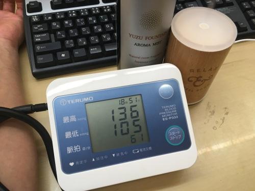 実験後血圧