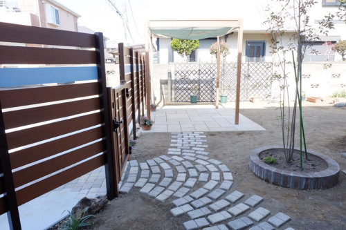 お庭のリフォーム後の写真