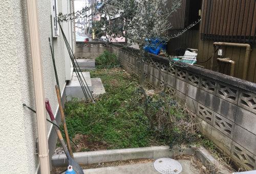 【施工前のお庭】