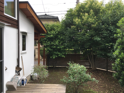 【施工前 庭の様子】