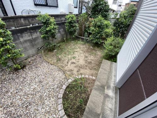 リフォーム前のお庭2