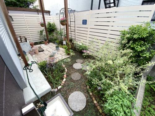 完成から半年後のお庭の様子